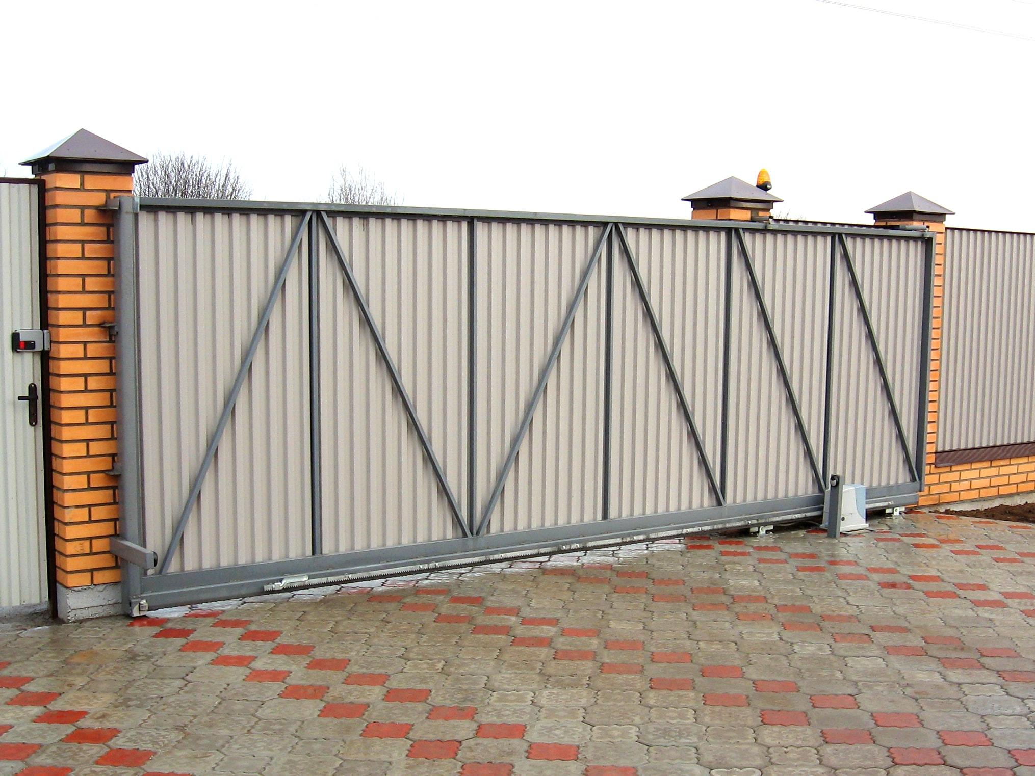 Ворота откатные механические картинки